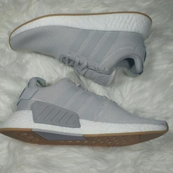 NWT Adidas NMD R2 Grey Running Shoes